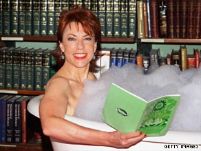 Kathy Lette promoting her new book.