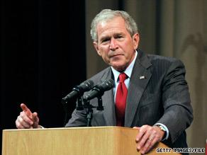 President George W. Bush was back in Washington on Friday.