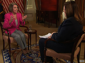In an interview that aired Sunday on CNN, House Speaker Nancy Pelosi said Republicans will have left their imprint on the final health care reform bill even though there likely won't be any GOP votes in support of it.