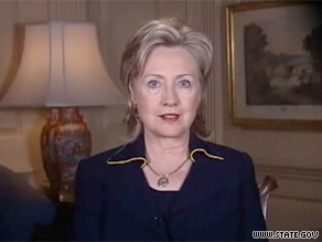 Secretary of State Hillary Clinton marked International Women's Day with a video message.