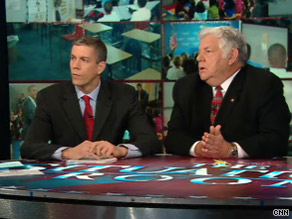 Obama administration Education Secretary Arne Duncan, left, discussed education reform Tuesday on CNN with former Reagan administration Education Secretary William Bennett, right.