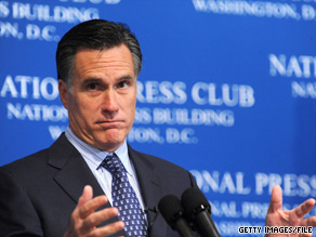 Mitt Romney is one of nine Republicans on the SRLC's 2012 straw poll ballot.