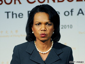 Condoleeza Rice endorses Carly Fiorina.