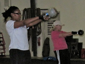 Meredith Clark attends a kettlebell class to build stamina for the Nautica NYC Triathlon