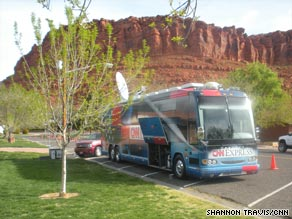 The CNN Express is following the Tea Party Express Tour around the country.