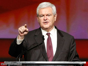 Newt Gingrich will implore Republican activists to offer a new vision.