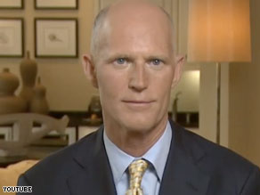Rick Scott, the founder of Conservatives for Patients' Rights, will challenge Attorney General Bill McCollum for the Republican nomination as a 'conservative outsider,' an adviser said Tuesday.