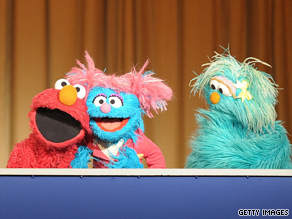 Sesame Street characters arrived at the Pentagon Tuesday to help debut a military-themed episode of its series called 'When Families Grieve.'