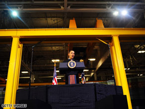 President Obama visited a Siemens wind turbine plant in Iowa on Tuesday.