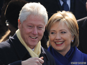 Former President Clinton is helping Sec. of State Hillary Clinton retire her remaining 2008 presidential campaign.