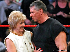 Connecticut Republican Rob Simmons cited the wealth of rival Linda McMahon, pictured here with husband Vince McMahon, as one reason for halting his Senate campaign.
