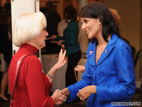 Erick Erickson wrote Wednesday that until a South Carolina blogger can produce definitive evidence of an affair he claims he had with gubernatorial candidate Nikki Haley (pictured), he should 'shut the hell up.'