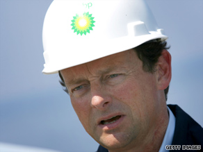 BP CEO Tony Hayward visited the spill site Friday in the Gulf of Mexico.
