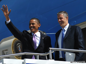 President Obama and Education Secretary Arne Duncan arrive in Michigan on Monday.