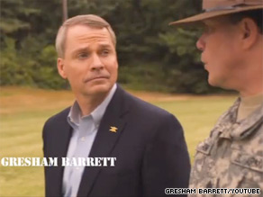 South Carolina gubernatorial candidate Gresham Barrett is up Wednesday with his first television ad.