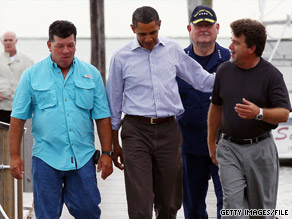During his last visit to the Gulf Coast region, the president met with business people and local officials in Grand Isle, Louisiana.  The president will address the nation Tuesday after another trip to the Gulf states early this week.