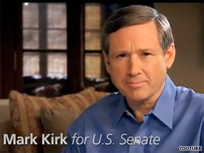 Rep. Mark Kirk was counseled by the military twice for violating rules that bar members of the armed services from partisan political activities. Kirk is running for President Obama's former Senate seat.
