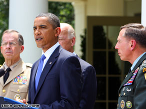 President Obama announced the resignation Wedenesday of Gen. Stanley McChrystal.