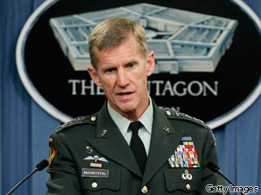 The top U.S. military commander in Afghanistan will likely resign Wednesday over comments he made about colleagues in a magazine profile, a Pentagon source says.