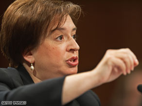 Elena Kagan testified Wednesday before the Senate.