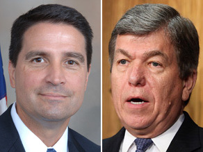 Reps. Brad Ellsworth (left) and Roy Blunt (right) both released their first TV ads of the campaign season on Tuesday.