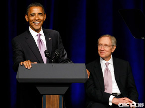 President Obama campaigned in Nevada for Senate Majority Leader Harry Reid on Thursday.