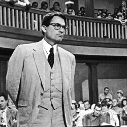 """Gregory Peck in a scene from the film version of """"To Kill a Mockingbird"""""""