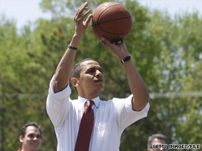 'I can only imagine if the president had an opportunity to play against LeBron James, he would take it,' Obama aide Robert Gibbs said Sunday.