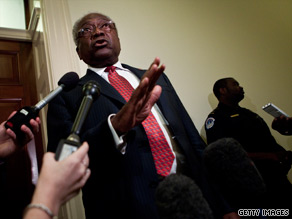 House Majority Whip James Clyburn poked fun at Vice President Joe Biden during a joint appearance with him Friday.