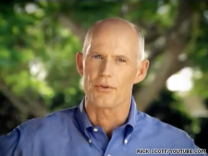Rick Scott is locked in a primary battle with Florida Attorney General Bill McCollum.