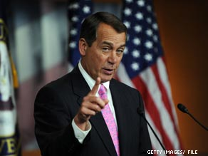 House Minority Leader John Boehner is scheduled to headline a fundraiser for a New York Republican candidate who backed plans to construct an Islamic center near the World Trade Center site.