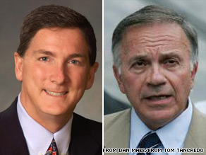 In Colorado, American Constitution Party candidate Tom Tancredo (right) says his gubernatorial challenger, Republican Dan Maes (left) is 'a total fraud.'