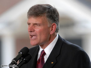 The White House responded Friday to comments made by Rev. Franklin Graham.