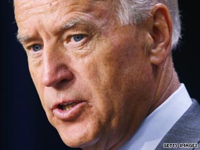 Vice President Joe Biden arrived in Iraq on Monday.