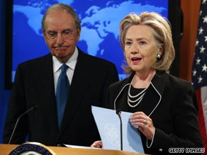 Secretary of State Hillary Clinton and Special Envoy George Mitchell will travel to the Middle East on September 14.