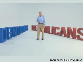 Florida Gov. Charlie Crist released his first ad of the general election on Tuesday.