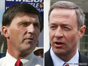 The Republican Governors Association has jumped into the Maryland gubernatorial race between Republican Robert Ehrlich (left) and Democrat Martin O'Malley (right).
