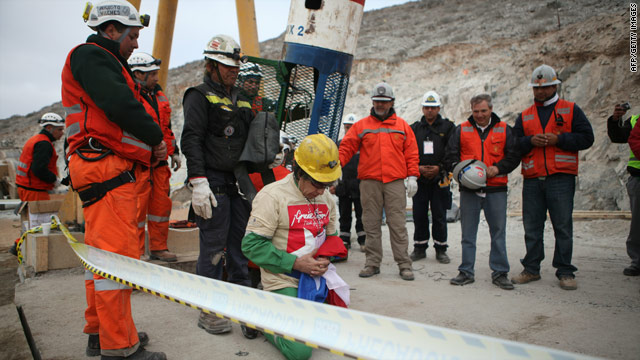 Chilean Miner in Prayer
