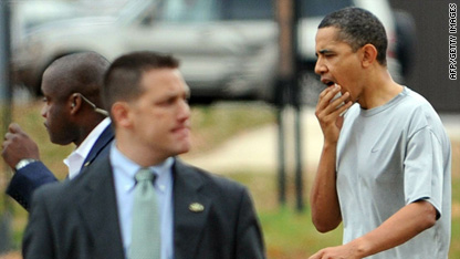 Obama gets busted lip, stitches in basketball game