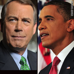 Debt stalement continues after Obama, Boehner clash