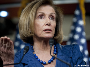 House Minority Leader Nancy Pelosi speaks during a press conference about the possible government shutdown.