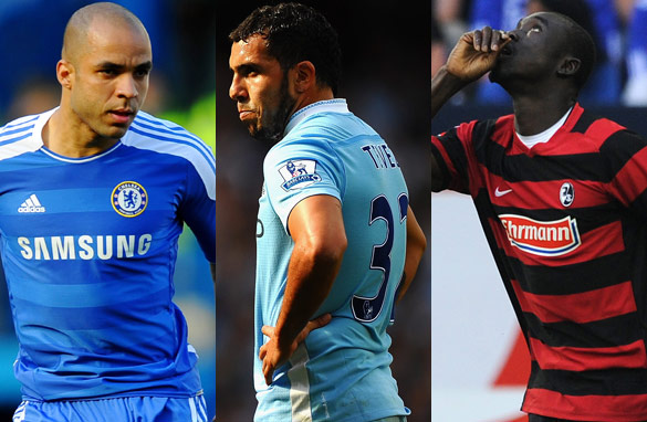 From left: Alex, Carlos Tevez and Papiss Cisse are among the top footballers who could be on the move this month.