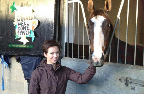 CNN's Alysen Miller with Synchronised during the week before Saturday's fateful Grand National at Aintree.