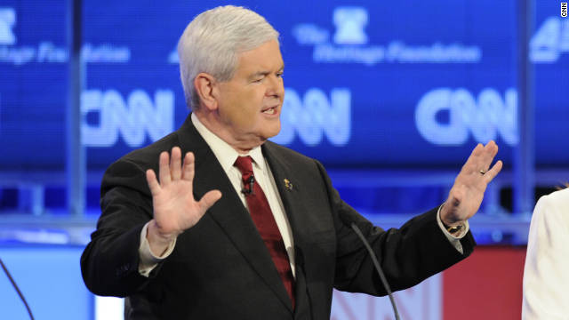 Former House Speaker Newt Gingrich drew a great deal of attention in the CNN National Security Debate on Tuesday.