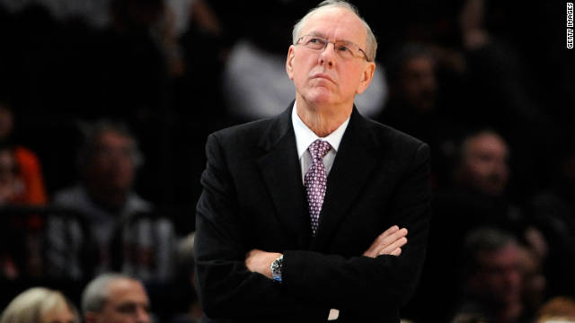 Syracuse head basketball coach Jim Boeheim