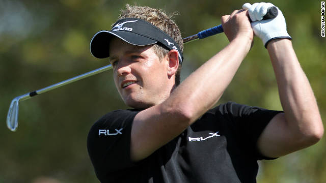 England's world No. 1 Luke Donald moved up to fourth in the third round of the Dubai World Championship on Saturday.