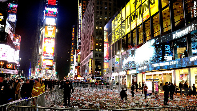Before event-goers enter Times Square they will have to pass through a comprehensive security checkpoint, New York authorities say.