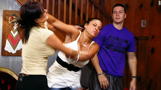 Sammi Giancola and Jenni Farley fight during the third season of