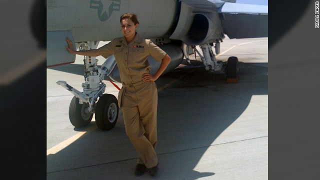 Annie Kendzior says she wanted to fly F-18s, but the