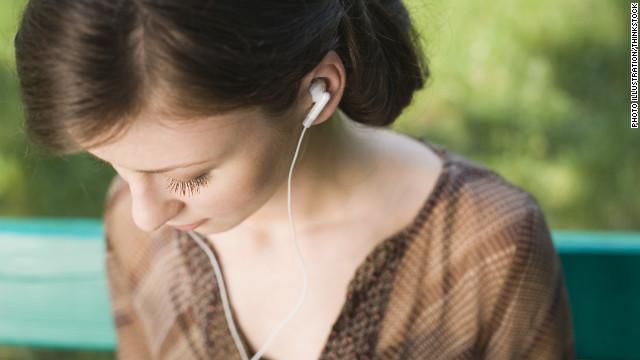 Listening Radio Laptop